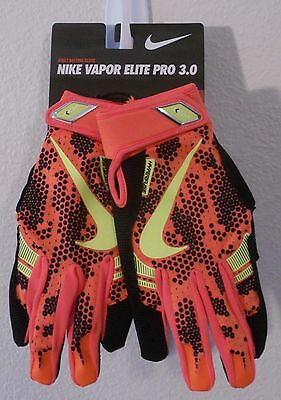 NWT Nike Vapor Elite Pro 3.0 Mens Baseball Batting Gloves M Total Orange MSRP$50
