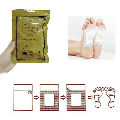 10Pcs/Bag Foot Pad Patch Bamboo Help Sleep Body Slim Patch Health Care RS
