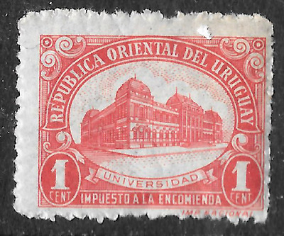 old red uruguay stamp shows university - see scan