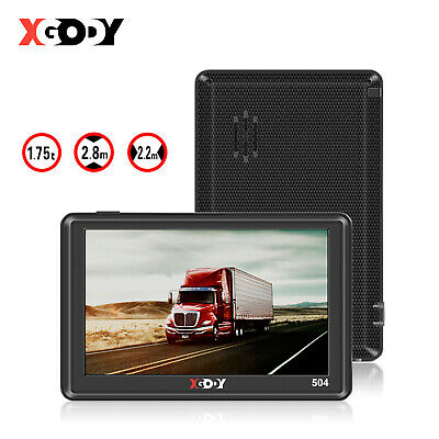XGODY 5'' 504 8GB SAT NAV Lorry Car GPS Navigation System 2D 3D View EU UK Maps
