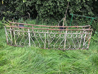 Wrought iron railings metal garden fence Reclaimed