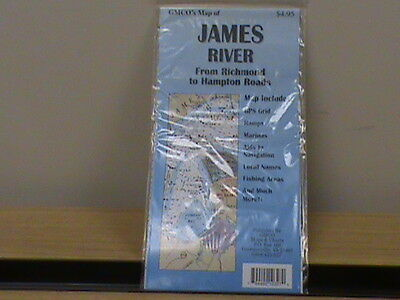 GMCO's Map of James River From Richmond to Hampton Roads