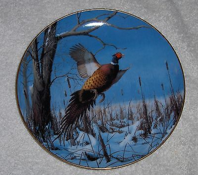 Vtg David Maass Ring-Necked Pheasant Plate Game Birds Danbury Mint Collection 89