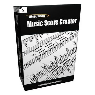 Music Score Composition Composing Software for PC MAC
