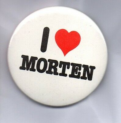 A-HA  I LOVE MORTEN Large Button Badge 80s POP BAND - 55mm PIN BADGE TAKE ON ME