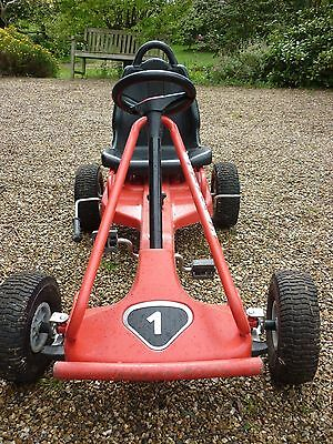 Kettler Kettcar pedal-cart; real tyres, good condition, red 1. Age approx. 6+