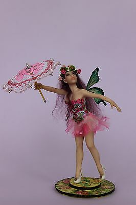 OOAK doll fairy ~Hella~, polymer clay sculpture, by Diana Genova