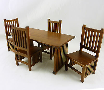 Dollhouse Miniature Classic Mission Style Dining Set, T6641