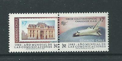 1983 World Communications Year  set of 2 stamps complete MNH/MUH