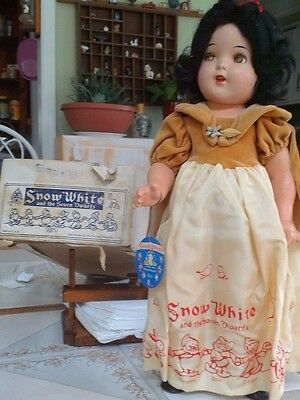Snow White  Vintage Disney 1937 ideal 18 inch ,all original with box