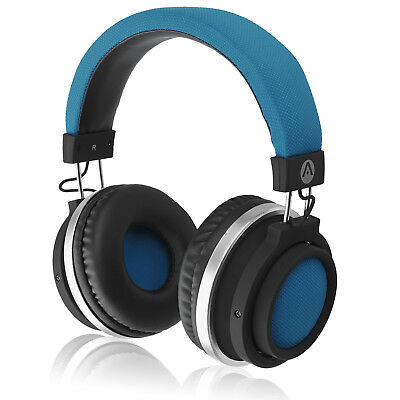 Audiomate BT980 Wireless Bluetooth HiFi Bass Stereo Over-Ear Headphones (Blue)