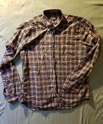 STEVEN ALAN men's [XL] 100% organic cotton made in USA button front shirt