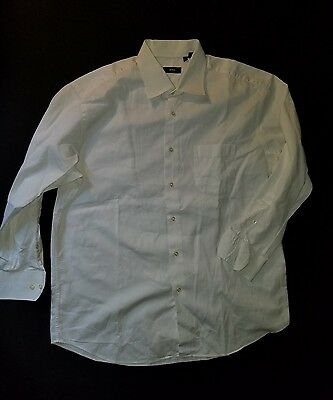 HUGO BOSS men's [17-32/33] white medium spread collar button front shirt
