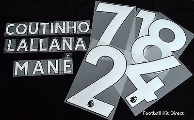 Liverpool  2018/19 Football Shirt Name/Number Set Player size issue Sporting ID