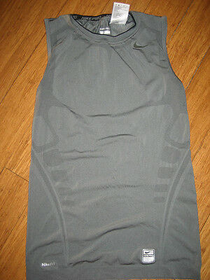 Nike Pro Fit compression tight fit sleeveless workout top shirt tank gray men M