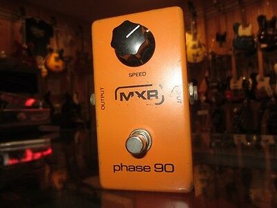 Vintage 1980 MXR Phase 90 Phase Shifter Effects Pedal Orange Warm Analog