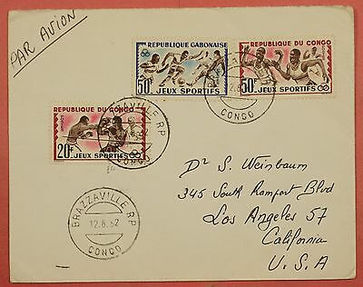 1962 Congo Brazzaville Cancel Airmail Cover To Usa