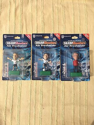 Corinthian Football Figures England Job Lot Air Freshener Beckham Gerrard Rare