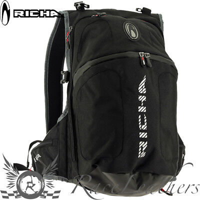 Richa Tophelmet Black Motorcycle Motorbike Bike Rucksack Backpack Ruck Sack