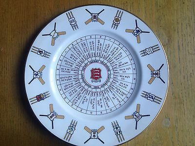 Essex County Cricket Champions 1984 commemorative plate
