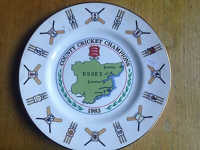 Essex County Cricket Champions 1983 commemorative plate