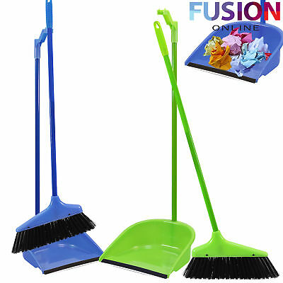 Long Handle Handled Dustpan Dust Pan And & With Brush Set Sweeper Dustpan Set