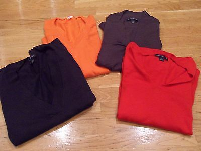 Lot of 4 Women Banana Republic/J.Crew Sweaters/Shirt/Top, Long Sleeve,Small, EUC