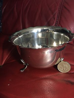 Beautiful large Solid Silver Sugar Bowl London Assayed 1901