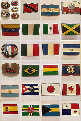 Multiple styles and sizes FLAG Belt Buckles PICK YOURS