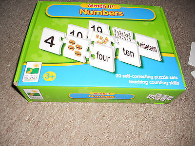 The Learning Journey Match It Numbers Learning Toy Puzzle Cards complete 60 pc