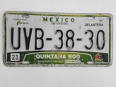 Mexico -  License Plate - 2000 - # 23 - Quintana Roo - Uvb 38 30  - Expired