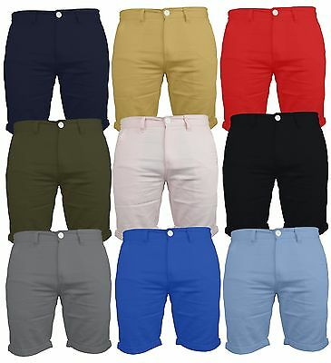 Mens Chino Shorts Summer Half Pant 100% Cotton  Casual Jeans Cargo Combat New