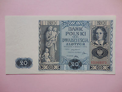 Poland . 20 Zlotych 1935 . P - 77 . Uncirculated