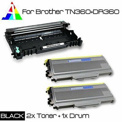 3 PK TN360 +DR360 Compatible Toner and Drum Unit For Brother MFC-7440N MFC-7840W