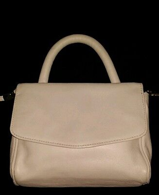 """Nine West """"Made in Italy"""" small white leather satchel"""