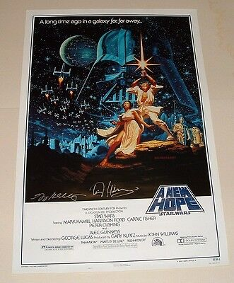 Star Wars, L.e. 15Th Anniversary New Hope Movie Poster - Signed - 41 X 27 - 1993