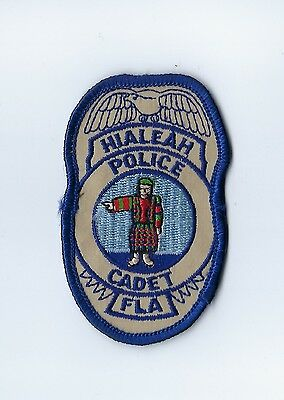 Hialeah (Miami-Dade County) FL Florida Police CADET badge-style patch - NEW!