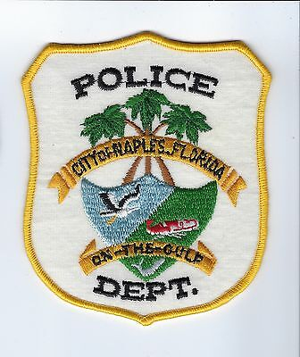 Naples (Collier County) FL Florida Police Dept. *White Background* patch - NEW!