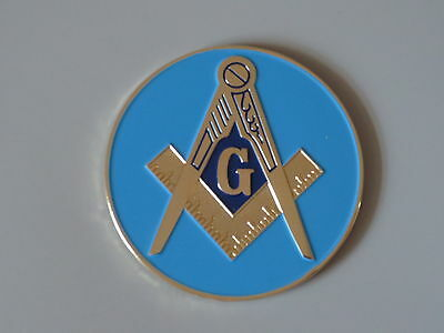 Masonic Auto Car Badge Aluminum Emblems mason freemason EA1