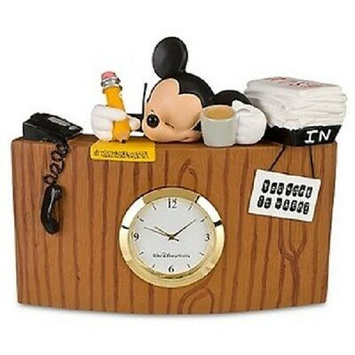 DISNEY MICKEY MOUSE SLEEPING DESK CLOCK READY VACATION working