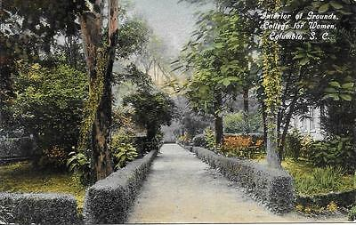Interior / Grounds College for Women Columbia SC nice postcard not postally used