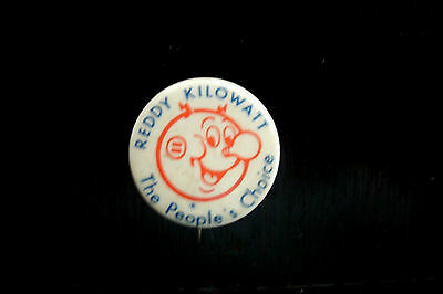 Collectible Reddy Kilowatt The People's Choice Utility Ad Pinback Button