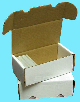 2 BCW 400 COUNT CARDBOARD STORAGE BOXES Trading Sports Card Holder Case Baseball