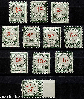 New Zealand NZ 1899 Postage Dues Set of 11 -  MNH