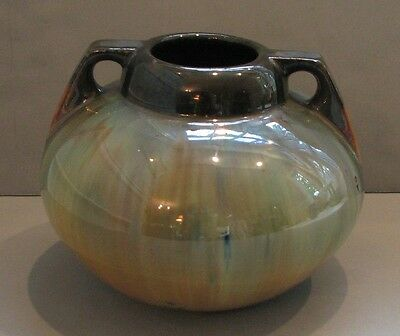 Antique Fulper 1916 - 1922 Flambe Glaze Art Pottery Vase American