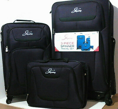 NEW Skyway Discovery Cascade Softside 3pc Spinner Luggage Set Purple $400