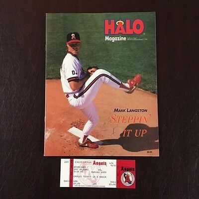 George Brett 3000 Hit Full Game Unused Ticket & Game Program 1992 Royals NMMT