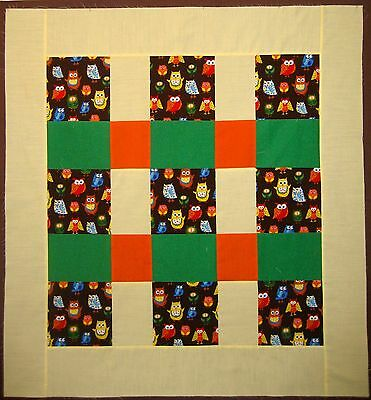 Little OWLS Crib QUILT TOP No Reserve