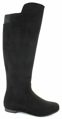 Women Knee High Black Boots Size 14M