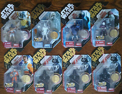 Star Wars 30th Anniversary Carded Action Figures With Coin Lot of 8 NEW!!